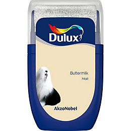 Dulux Standard Buttermilk Matt Emulsion paint 0.03L Tester