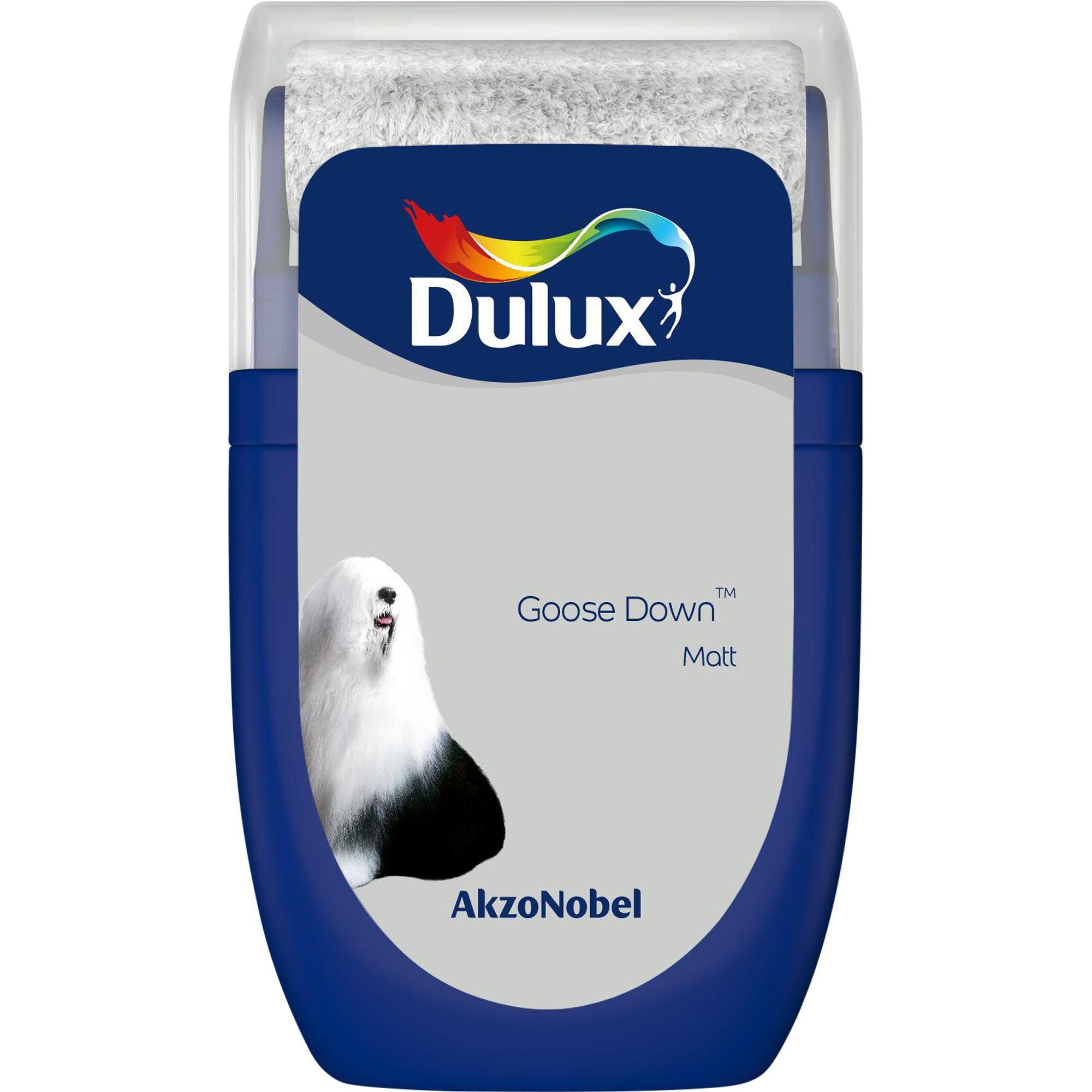 dulux standard goose down matt emulsion paint tester. Black Bedroom Furniture Sets. Home Design Ideas