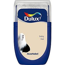 Dulux Standard Ivory Matt Emulsion Paint 0.03L Tester