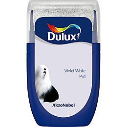 Dulux Standard Violet White Matt Emulsion Paint 0.03L