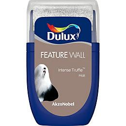 Dulux Feature wall Intense truffle Matt Emulsion paint