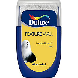 Dulux Feature wall Lemon punch Matt Emulsion paint