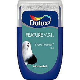 Dulux Feature Wall Proud Peacock Matt Emulsion Paint