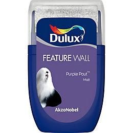 Dulux Feature Wall Purple Pout Matt Emulsion Paint