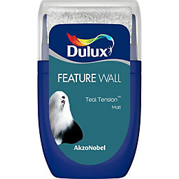 Dulux Feature Wall Teal Tension Matt Emulsion Paint