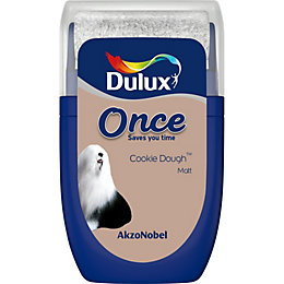 Dulux Once Cookie dough Matt Emulsion paint 0.03L
