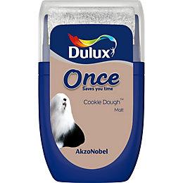Dulux Once Cookie Dough Matt Emulsion Paint 0.03L