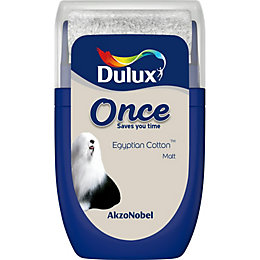 Dulux Once Egyptian Cotton Matt Emulsion Paint 0.03L