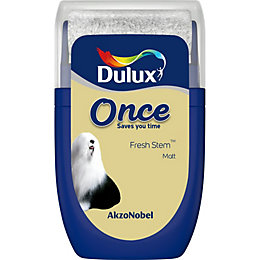 Dulux Once Fresh Stem Matt Emulsion Paint 0.03L