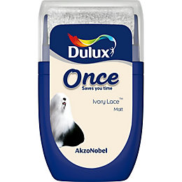 Dulux Once Ivory lace Matt Emulsion paint 0.03L