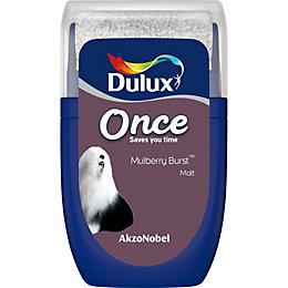 Dulux Once Mulberry Burst Matt Emulsion Paint 0.03L