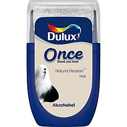 Dulux Once Natural hessian Matt Emulsion paint 0.03L