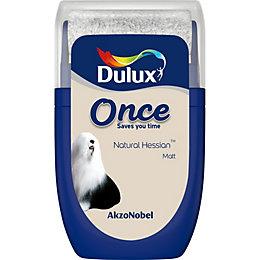 Dulux Once Natural Hessian Matt Emulsion Paint 0.03L