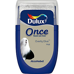 Dulux Once Overtly Olive Matt Emulsion Paint 0.03L