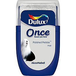 Dulux Once Polished Pebble Matt Emulsion Paint 0.03L