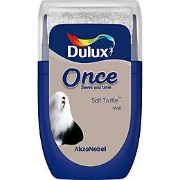 Dulux Once Soft truffle Matt Emulsion paint 0.03L