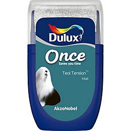 Dulux Once Teal Tension Matt Emulsion Paint 0.03L