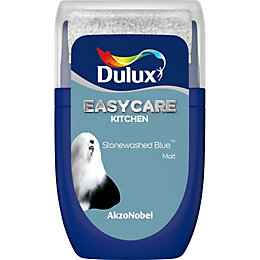 Dulux Easycare Stonewashed blue Matt Emulsion paint 0.03L