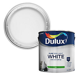 Dulux Pure Brilliant White Silk Emulsion Paint 2.5L