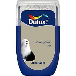 Dulux Standard Overtly Olive Matt Emulsion Paint 0.03L