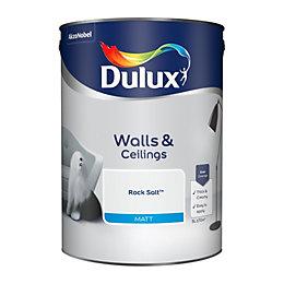 Dulux Rock salt Matt Emulsion paint 5L