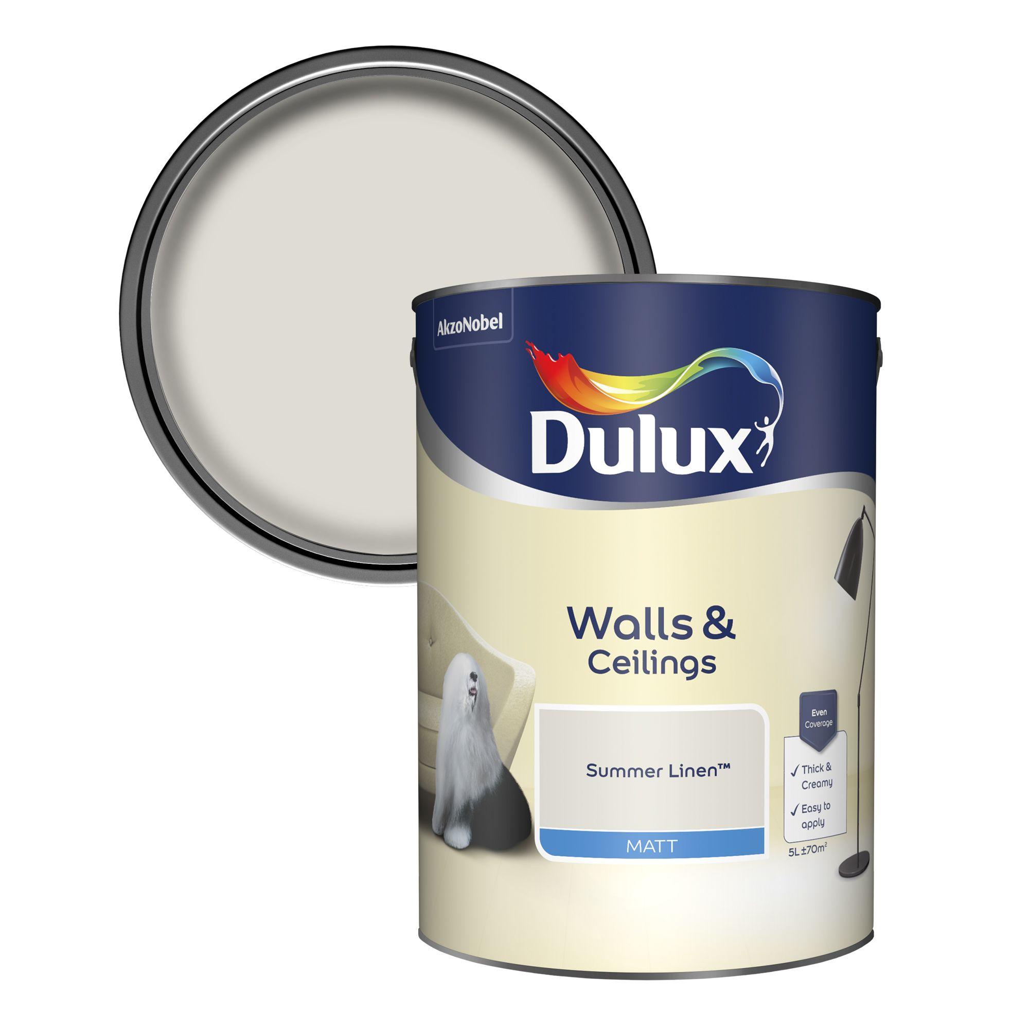 Dulux Summer Linen Matt Emulsion Paint 5l Departments