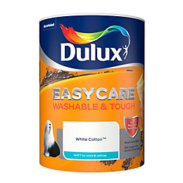 Dulux Easycare White cotton Matt Emulsion paint 5L