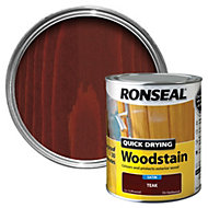 Ronseal Teak Satin Woodstain 0.75L