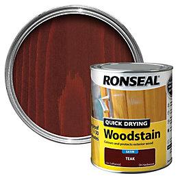 Ronseal Teak Satin Woodstain 0.75L