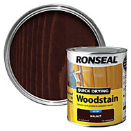 Ronseal Walnut Satin Woodstain 0.75L