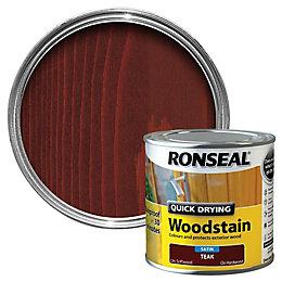 Ronseal Teak Satin Woodstain 0.25L