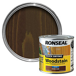 Ronseal Dark oak Satin Woodstain 0.25L