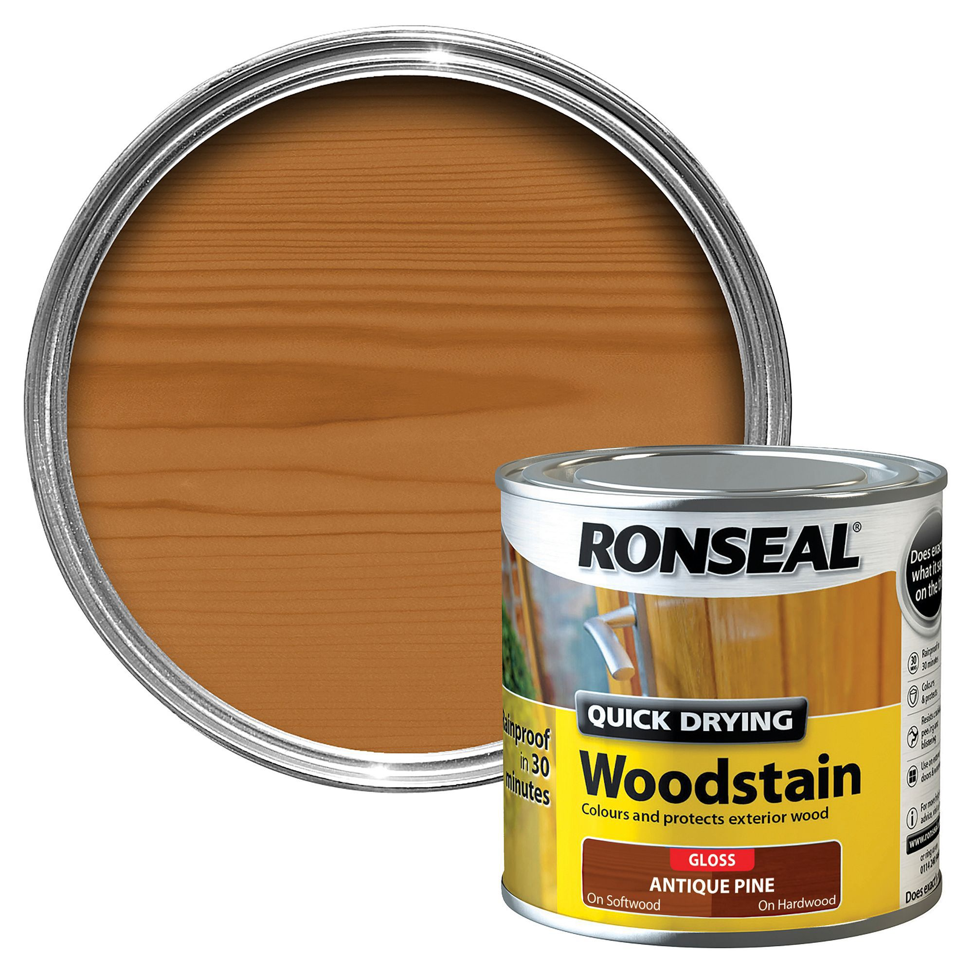 Ronseal Antique Pine Gloss Wood Stain 250ml Departments