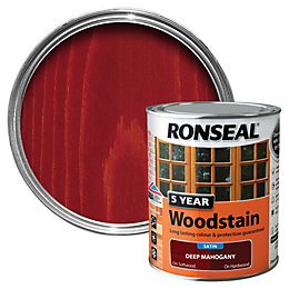Ronseal Deep Mahogany High Satin Sheen Woodstain 0.75L