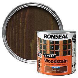 Ronseal Dark Oak High Satin Sheen Woodstain 2.5L