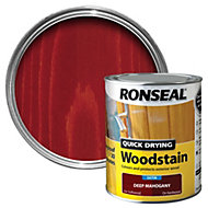 Ronseal Deep mahogany Satin Woodstain 0.75L