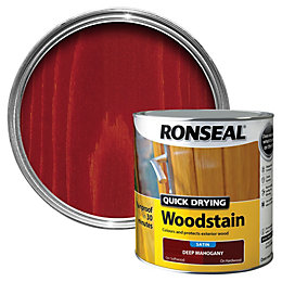 Ronseal Deep mahogany Satin Woodstain 2.5L