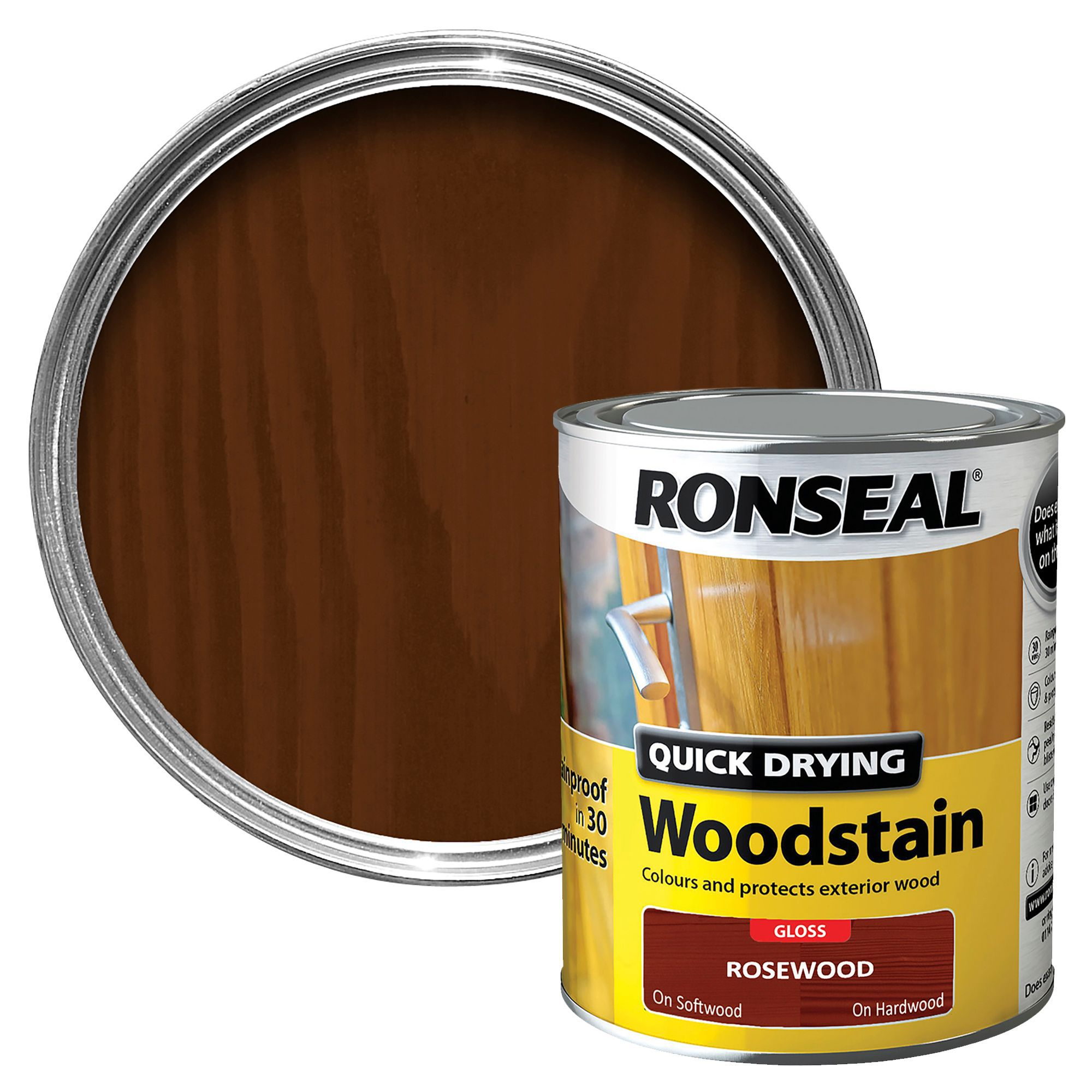 Ronseal Rosewood Gloss Woodstain Departments Diy At B Q