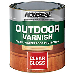 Ronseal Clear Gloss Outdoor varnish 0.25L