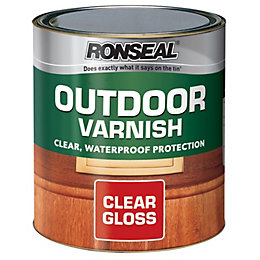 Ronseal Clear Gloss Outdoor varnish 0.75L