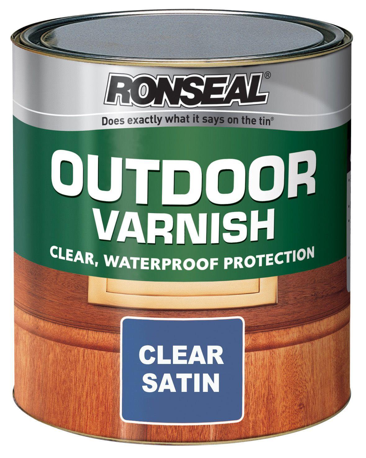 Ronseal Satin Outdoor Varnish 2500ml | Departments | DIY At Bu0026Q.