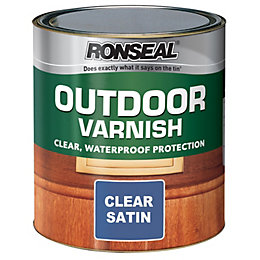 Ronseal Clear Satin Outdoor varnish 2.5L