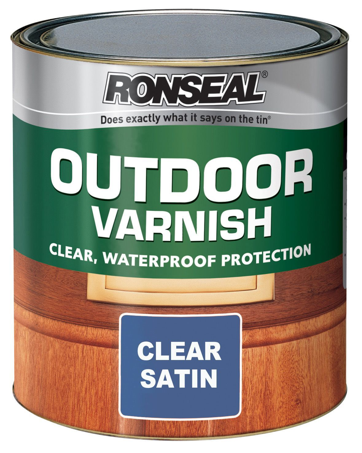 Ronseal Clear Satin Wood varnish, 2.5L | Departments | DIY at B&Q