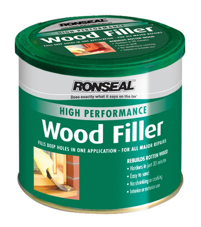 Ronseal wood filler 550g departments diy at b q for Wood floor crack filler