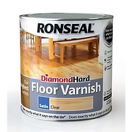 Ronseal Diamond hard Clear Satin Floor varnish 2.5L