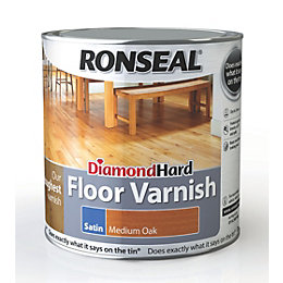 Ronseal Diamond Medium Oak Satin Floor Varnish 2500ml