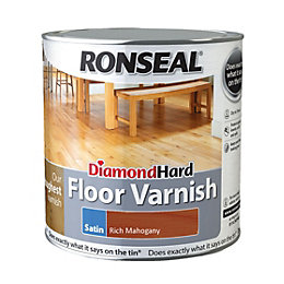 Ronseal Diamond Rich Mahogany Satin Floor Varnish 2500ml