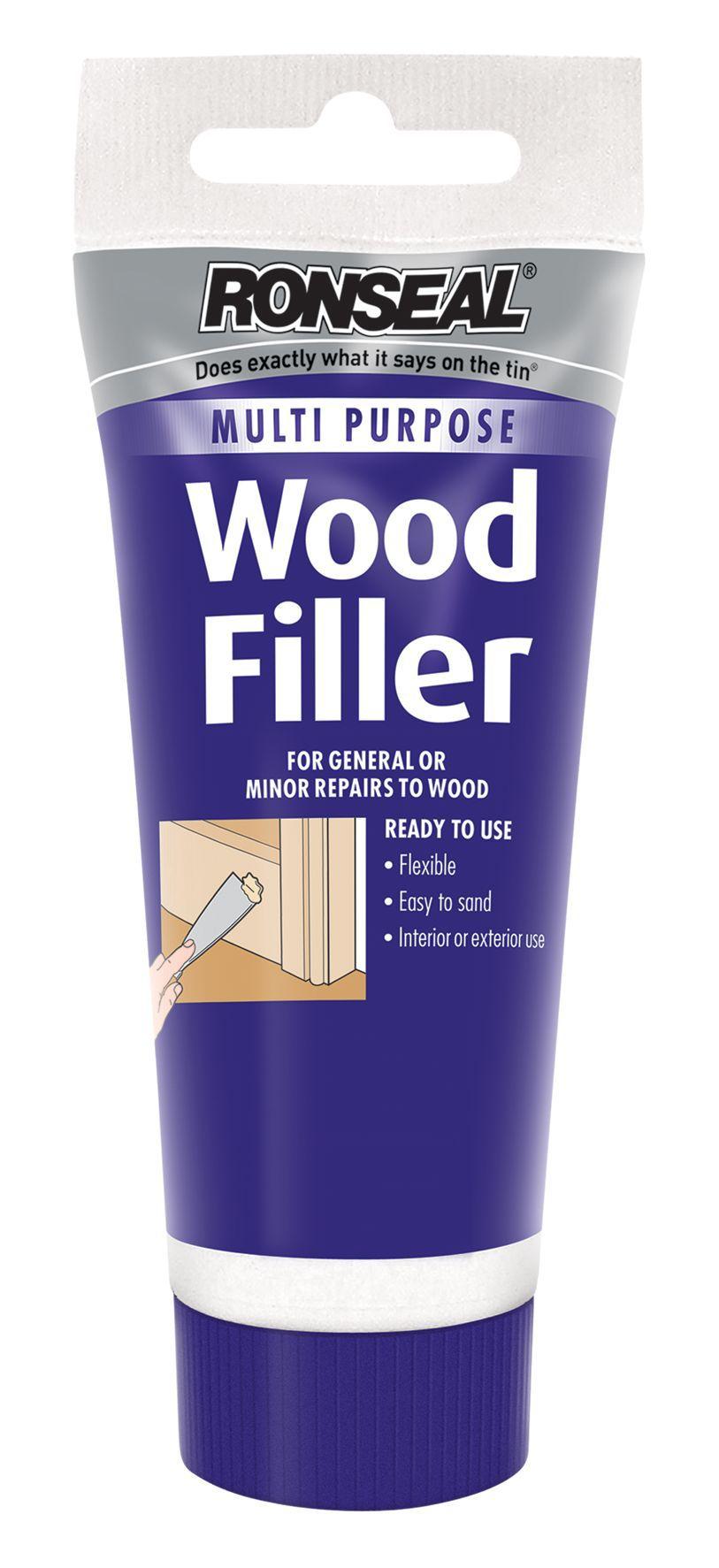 Ronseal White Wood Filler 100g Departments Diy At B Amp Q