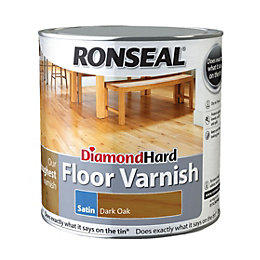 Ronseal Diamond hard Dark oak Satin Floor varnish