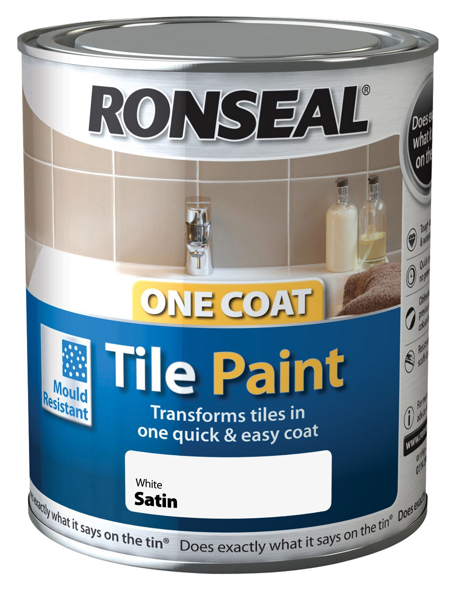 Ronseal White Satin Tile Paint075l Departments Diy At Bq